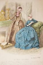 MODE GRAVURE COULEURS 1847 MODES PARISIENNES  MD158
