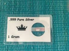 1 GRAM PURE .999% SILVER ON LAMINATED CARD ONE GRAM
