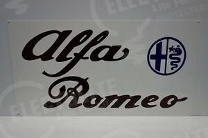 Alfa Romeo  DEALER SIGN. 16 BY 30. ENAMEL COAT STEEL. PRISTINE!