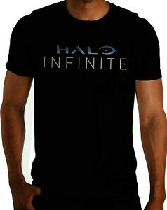 Halo Infinite Graphic T-shirt Officially Licensed Black Men's Size Small-2XL