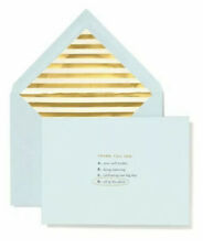 """Kate Spade """"All of the Above"""" Wedding Thank You 10 Cards"""