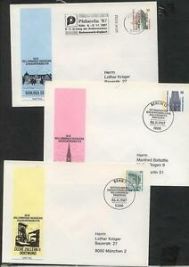 Berlin 1987, 30 Pf, 5ß Pf, 80 Pf: Plusbriefe mit Ersttagsstempel #l958