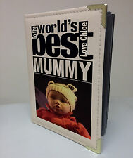 Personalised faux leather photo album, memory book, wolds best Mum Mummy gift