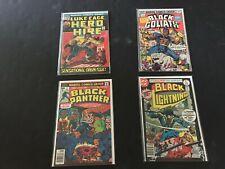Luke Cage 1 Black Goliath 1 Black Panther 1 Black Lightning 1 VG to Fine Marvel