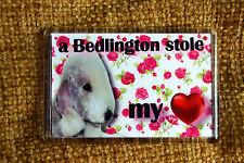 Bedlington Terrier Dog Gift Fridge Magnet 77x51mm Birthday Gift