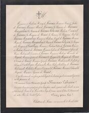 1886 Faire-part décès Louis-Alexandre-Joseph de FOURNAS de LA BROSSE - Serres.