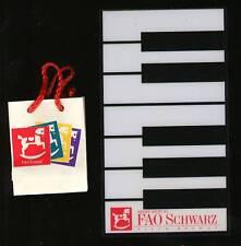 """Madame Alexander 8"""" Doll FAO Schwartz Shopping Bag and Floor Piano"""