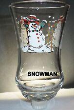 Home Interior Snowman Clear Votive Cup w/ rubber grommet