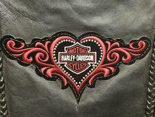 Harley Davidson Patch Vest Women Biker Size Small USA Extreme Fringe