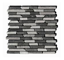 1 Matte ST-437 Marmor Grau Hellgrau Stab Mosaikfliesen Naturstein Mosaik Lager