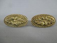 Paire de poignée de porte en laiton ou bronze perlé