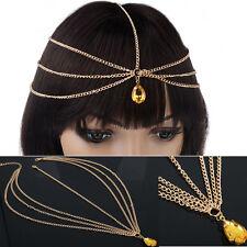 Fashion Womens Rhinestone Metal Head Chain Headband Headpiece Hair Band Jewelry