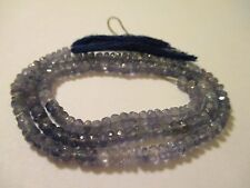 15 Inch Strand Genuine Faceted Tanzanite Beads 3.9 mm   51 Cts AT