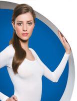 Halbtransparentes Shirt Weiss - Zweite Haut