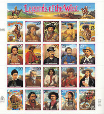 Stars of the Silent Screen Half Sheet of 20 x 29-Cent Postage Stamps USA 1994 Scott 2819-28