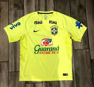 NWOT 2020 Nike Brazil Home Training Jersey CBF Itau Football Selecao M