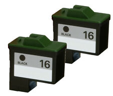 2-pk For Lexmark 16 (10N0016) Black Ink For X1170 X1180 X1185 X1190 X1195 X1240