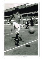 SALE 1968 JOHNNY GILES HAND SIGNED A4 PHOTO AUTOGRAPH COA LEEDS UNITED UTD #10