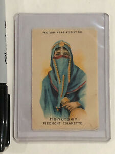 PIEDMONT SILK CIGARETTE TOBACCO CARD EGYPTIAN WOMAN HENUTSEN