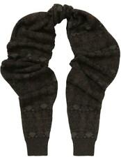 NWT $995 GIORGIO ARMANI Collar Brown Knitted Scarf Small Made in Italy 6YSX09