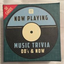 Talking Tables Now Playing 00s and Now Music Trivia Box Party Game Set Free Ship