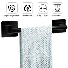 Self Adhesive Bathroom Towel Bar Wall Mount Holder Rack Non Slip Storage Kitchen
