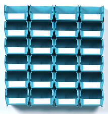 Triton Products Wall Storage - Sm Teal Bins/Rails 26 CT