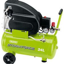 Draper 24L 230V 2HP Green Powerful & Portable Air Compressor - 24 Litre Tank