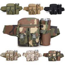 Tactical Waist Belt Fanny Pack Military Utility Bum Bag Water Bottle Molle Pouch