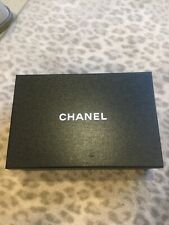 Chanel Empty Gift Storage Shoe Box with Insides Black 12 x 8 x 4 New
