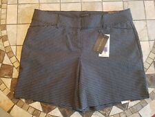 Women's Tailored Shorts Black/White Jacquard Polka Dot Size 12 msrp $50 NWT