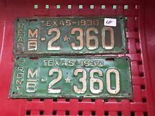 1930  TEXAS MOTOR BUS   LICENSE  PLATES   MB2360