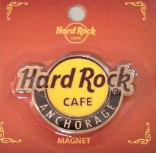 Hard Rock Cafe ANCHORAGE 2014 Classic HRC Logo MAGNET Mint New on Card CITY CORE