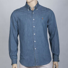 POLO by Ralph Lauren Mens Denim Oxford Slim Fit Shirt Cotton New RRP £109!