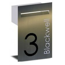 Stainless Steel Letterbox Custom Text Mailbox - Brickin Fence Mount Letter box