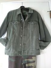 Old Navy Small Denim Jean Jacket, Cotton Dyed Green 'one of a kind Vintage Look'