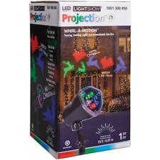 New Box Led LightShow Projection Whirl A Motion Merry Christmas Lights W/Shapes