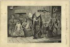 1877 Theatrical Performance In Cochin China Cholen