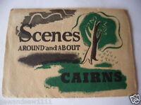 antique old vintage fold out picture postcard souvenir Scenes Cairns Australia