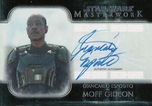 Star Wars Masterwork 2020, Giancarlo Esposito (Moff Gideon) Autograph Card A-GE