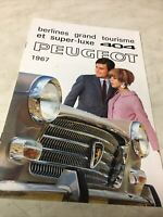 Peugeot 404 1967 catalogue prospectus brochure dépliant publicité
