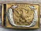 Civil War Model 1851 Eagle Sword Belt Plate with Silver Wreath