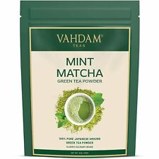 Certified Japanese Mint Matcha Green Tea Powder - 50 gm