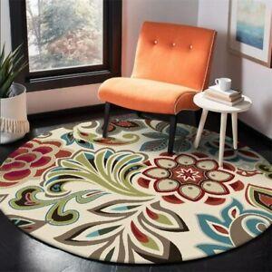 Modern Round Floral Print Area Rug/Carpet
