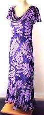 COUNTRY CASUALS (CC) Purple45%SilkMixFernPrintParty Size10 £150