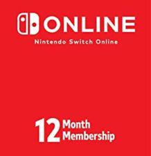 Nintendo Switch Online 12-month Individual Membership Code - 100% Legit