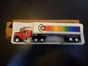 SCHAPER STOMPER SEMI 7783 49-54034, NEW IN BOX, RED TRUCK, WHITE TRAILER, RARE