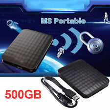M32 USB3.0 500GB Safe Stable External Hard Drive Portable Mobile Hard Disk black