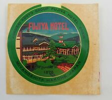Fujiya Hotel Miyanoshita Hakone Japan Vintage Luggage Label Kokusai Kogya