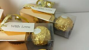 job lot wedding favour stick boxes with base and sleeve x 48 gold and silver